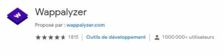 Extension Chrome Wappalyzer pour savoir quel CMS est utilisé sur un site