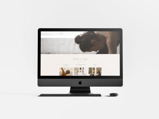 Réalisation webdesign et wordpress du site internet de studio de yoga à Paris Céline et référencement naturel