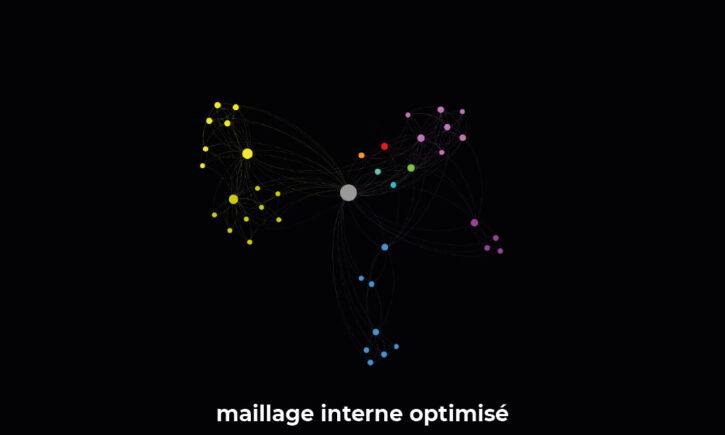 Structure de maillage interne d'un site optimisé